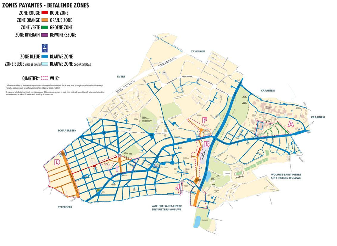 Les zones payantes woluwe saint lambert woluwe saint lambert for Zone plan